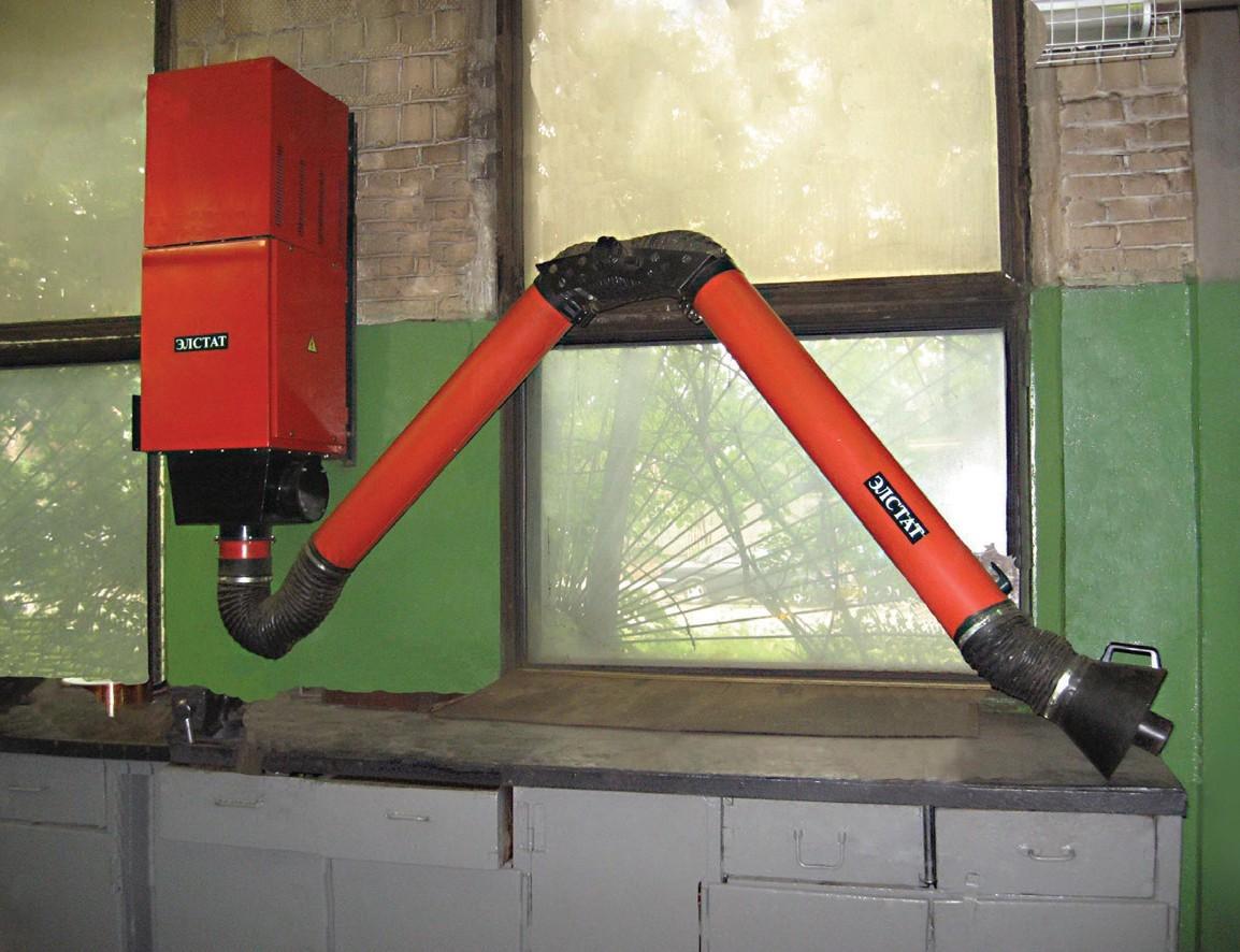 Местные отсосы – для удаления загрязненного воздуха от стационарных рабочих мест: воздуховытяжные устройства ПВУ-ЭЛСТАТ и КПВУ-ЭЛСТАТ