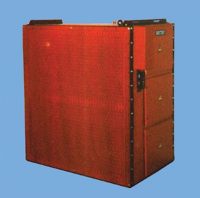 Электростатические фильтры ЭФВА–ЭЛСТАТ (блочной конструкции), стационарные, с фильтрующими ионизационными и осадительными кассетами из алюминия, регенерируемыми промывкой водой. С пультом управления, системой сигнализации. Стационарные.