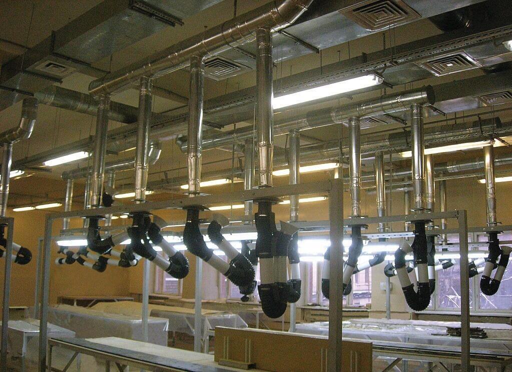Местные отсосы – для удаления загрязненного воздуха от стационарных рабочих мест-столов радиомонтажников  и электромонтажников: мини-полноповоротные воздуховытяжные устройства МПВУ «Пластифик» и МПВУ-ЭЛСТАТ