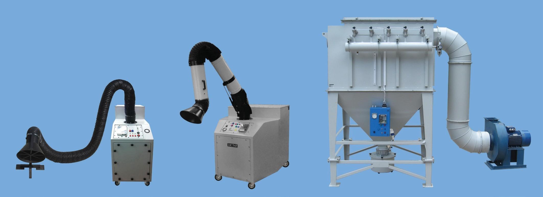 Фильтры ФСК-АП-ЭЛСТАТ с автоматической продувкой фильтр-патронов – для очистки воздуха при сварке; плазменной, газовой и лазерной резке. С пультом управления, с программируемым контроллером, с измерительными приборами, с системой сигнализации. Тип фильтр-патронов и конструкция системы продувки выбираются в зависимости от техпроцесса. Передвижные и стационарные.