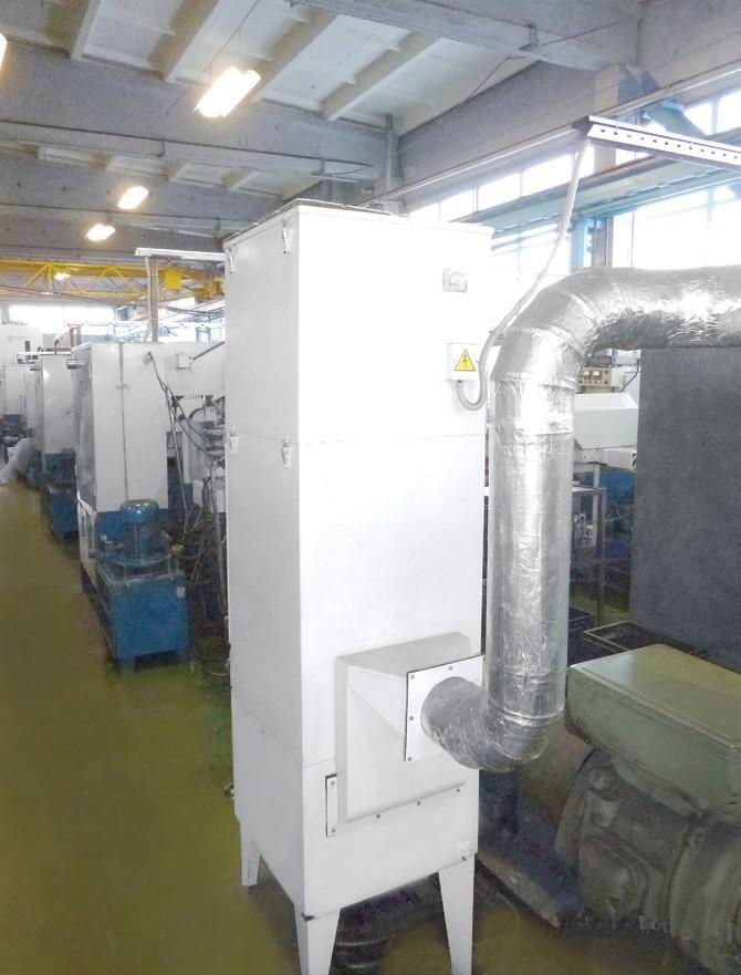 Фильтры ФВА-М-ЭЛСТАТ – для очистки воздуха от туманов масел и эмульсий, в том числе в смеси с металлической и неметаллической пылью, и дымов, образующихся при горении масел. Многоступенчатые, самоочищающиеся, со сменными фильтрующими элементами - картриджами. С пультом управления, с измерительными приборами, с системой сигнализации. Стационарные.