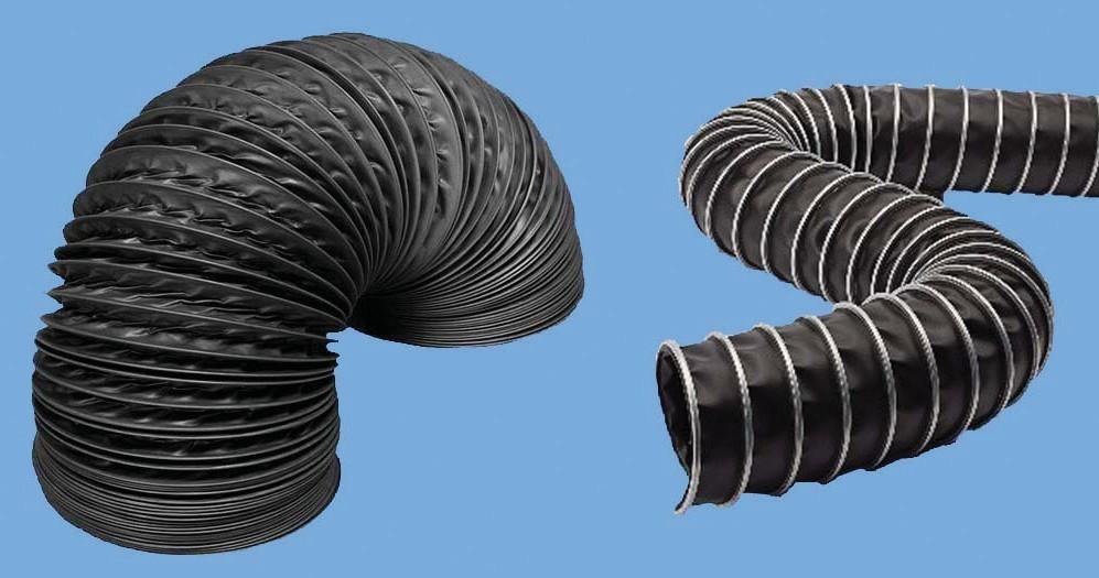 Гибкие воздуховоды диаметром от 50 мм до 400 мм.
